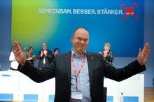 Christoph Meister auf der 4. Bundesfachbereichskonferenz Finanzdienstleistungen am 20. April 2015 in Berlin
