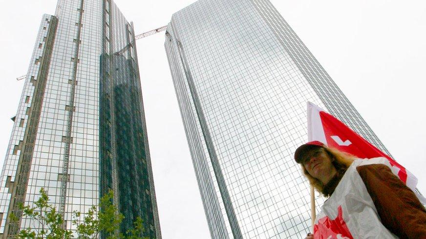 Streik der Bankangestellten in Frankfurt
