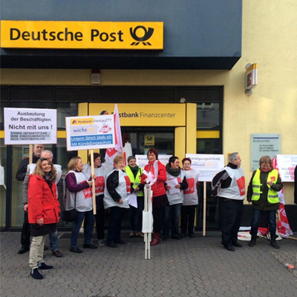 ver.di - Streiks im Postbank Filialvertrieb