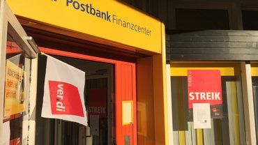 Streik bei der Postbank