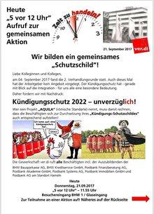 ver.di-Aktion bei der BHW in Hameln am 21.09.2017
