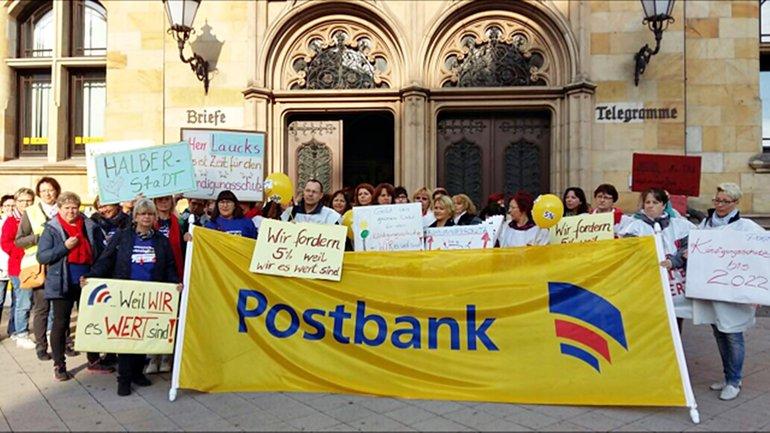 Postbank-Streik in Magdeburg am 21.09.2017
