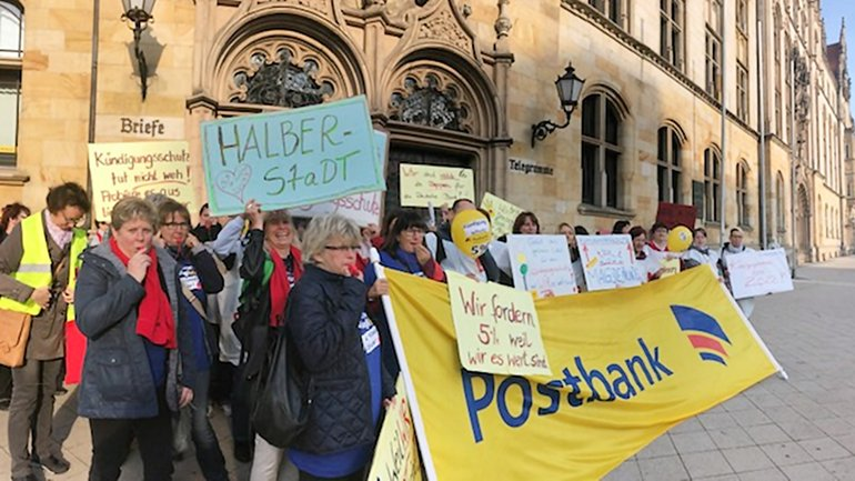 Postbank-Streik in Magdeburg am 21.09.2017