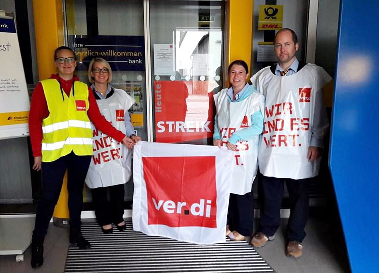 Postbank-Streik in Straubing am 22.09.2017