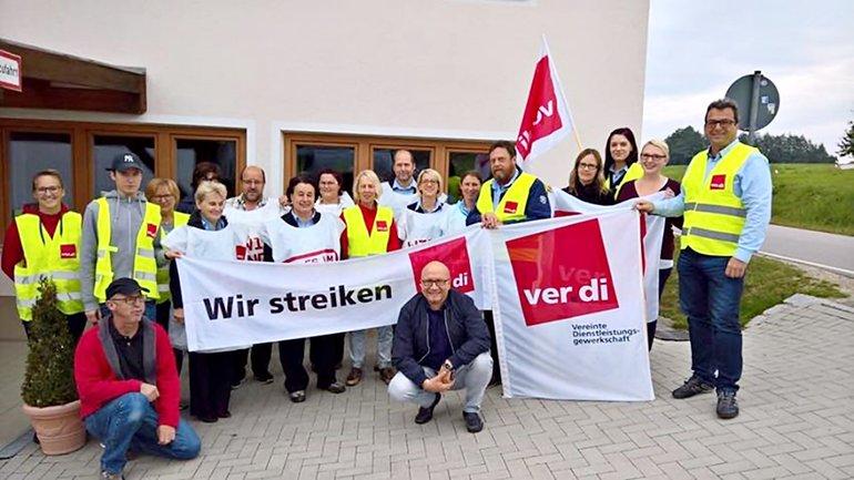 Postbank-Streik in Straubing am 22.09.2017