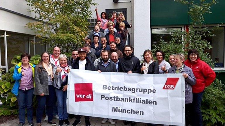 Postbank-Streik in München am 22.09.2017