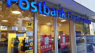 Postbank-Streik in Berlin am 22.09.2017