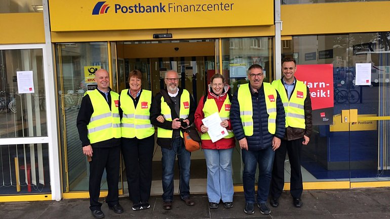 Postbank-Streik in Trier am 23.09.2017