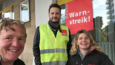 Postbank-Streik in Bad Dürkheim am 23.09.2017