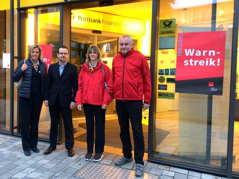Streik bei der Postbank in Rheinland Pfalz