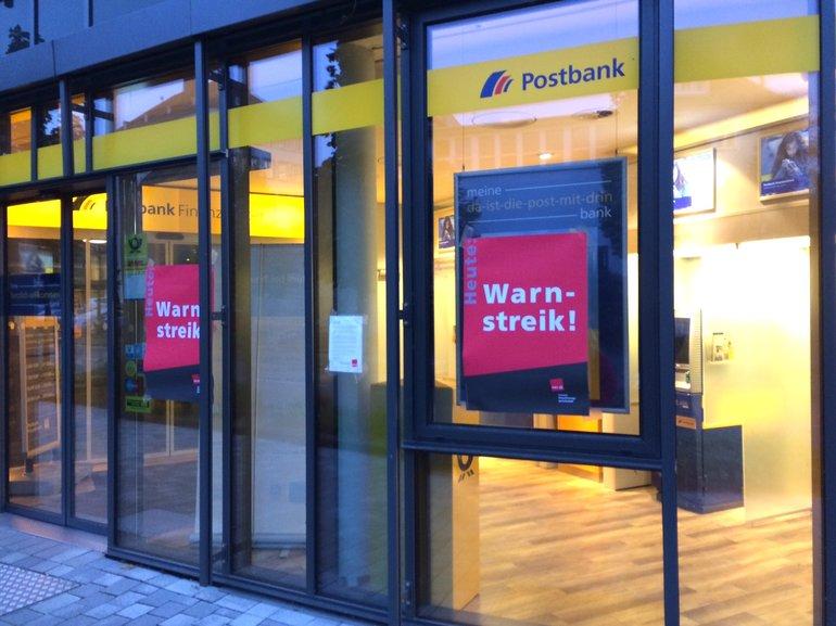 Streik bei der Postbank in Rheinland-Pfalz