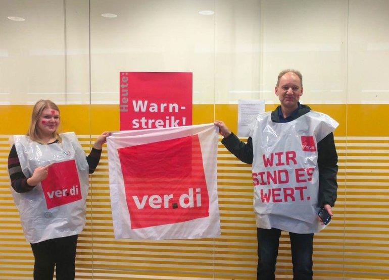 Streikposten in Hannover-Roderbruch