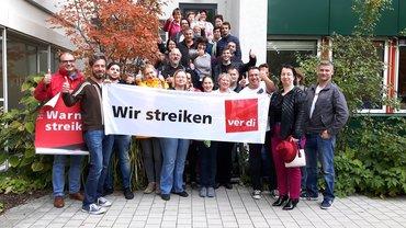 Streikposten in München