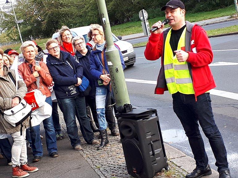 Postbank-Streik in Berlin am 12.10.2017