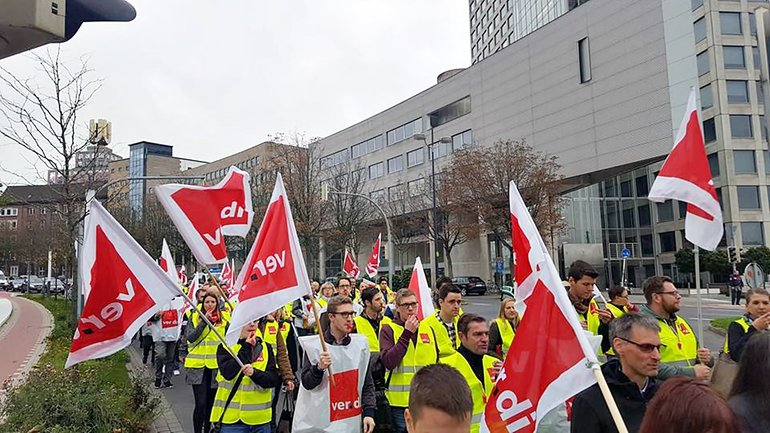 Postbank-Streik in Dortmund am 13.10.2017