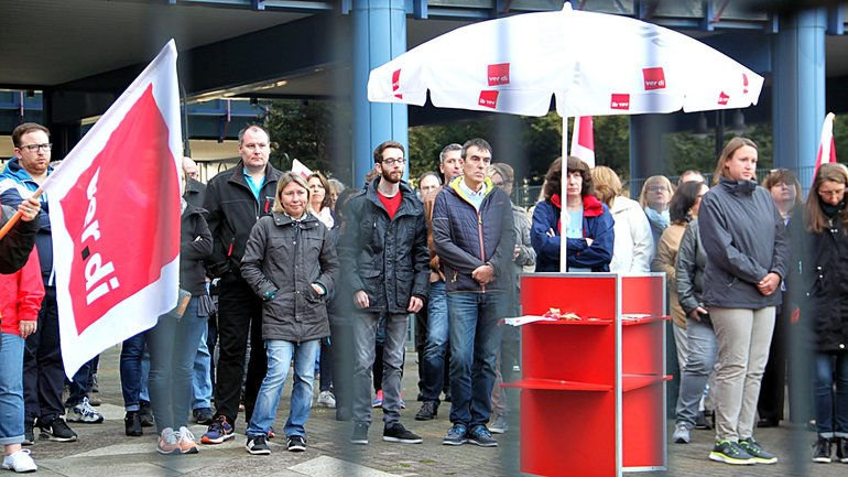 Urabstimmung bei der Postbank in FFM am 16.10.2017