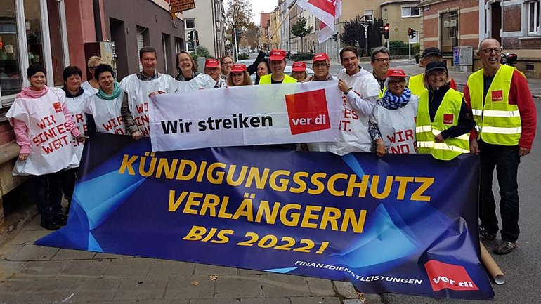 Postbank-Streik in Bamberg am 20.10.2017