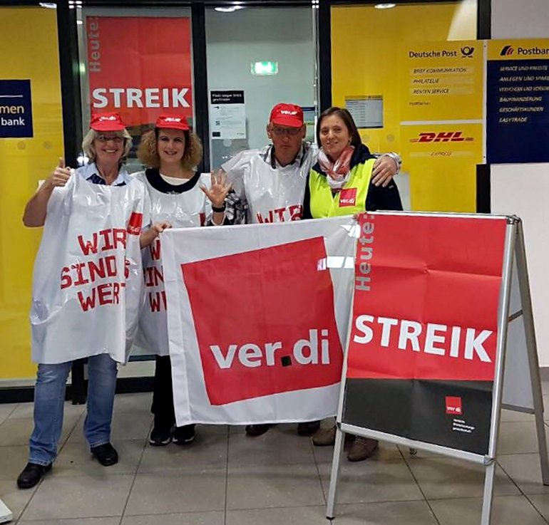 Postbank-Streik in Nürnberg am 20.10.2017