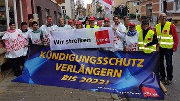 Postbank-Streik in Bamberg am 20.10.2017