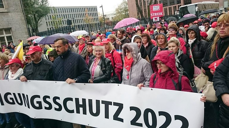 Postbank-Streik in Berlin am 23.10.2017