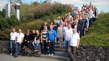 Teilnehmer/innen der JAV Konferenz 2014 in Zeulenroda. Eingeladen waren die Jugend- und Auszubildendenvertreter aus Banken Sparkassen und Versicherungen in den neuen Bundesländern.
