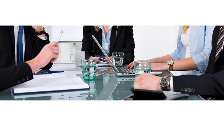 Diskussion runder Tisch Verhandlung Business Meeting