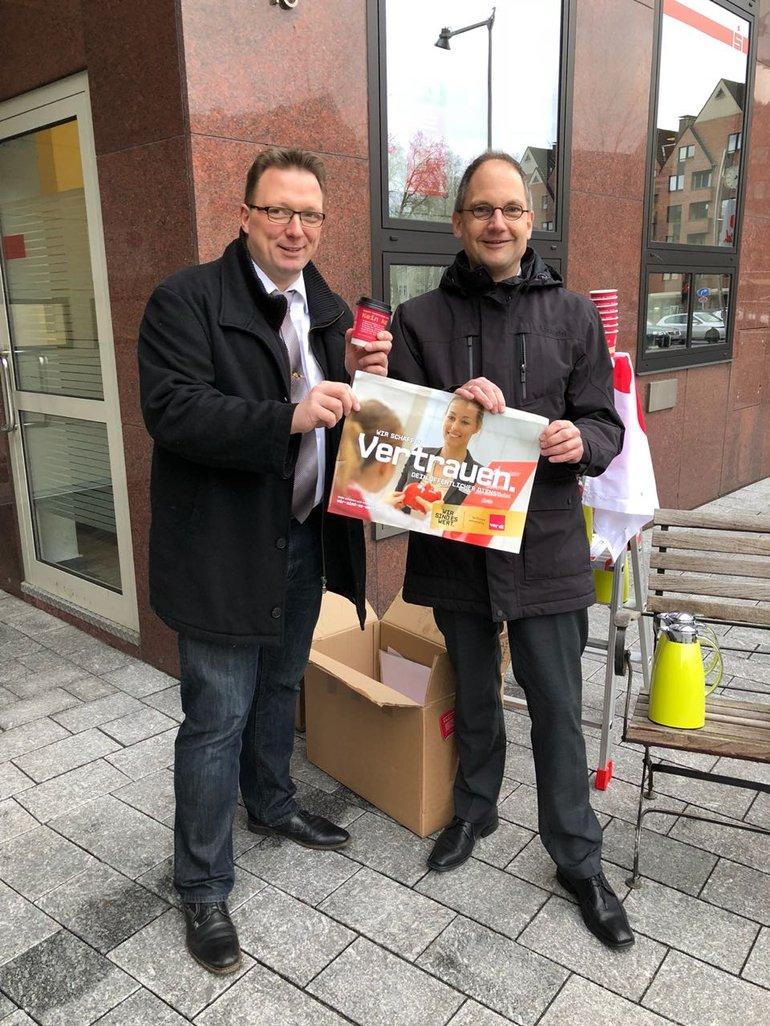 Aktionstag bei der Sparkasse Vest, hier in Castrop-Rauxel (14.03.2018)