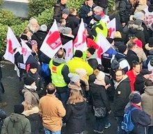 Sparkassenbeschäftigte in Bochum im Warnstreik (22.03.2018)