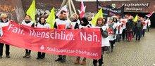 Sparkassenbeschäftigte in Oberhausen im Warnstreik (21.03.2018)