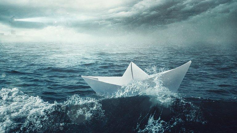 Schiffbruch Sturm See