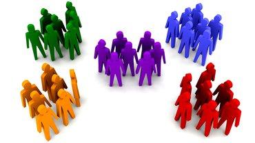 Menschen in verschiedenen Gruppen