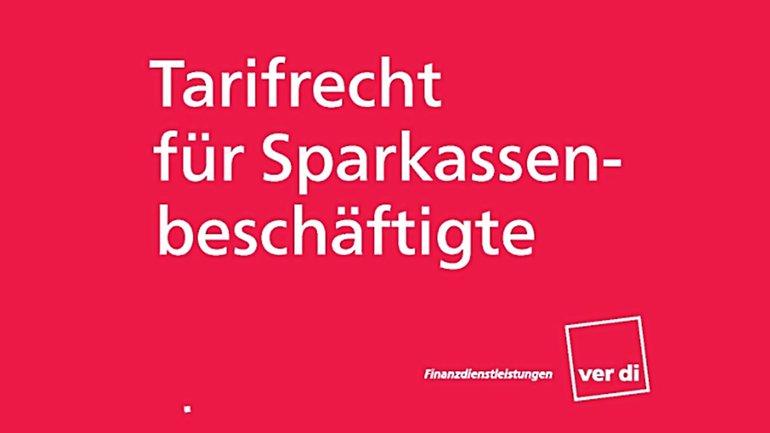"""Cover der Broschüre """"Tarifrecht für Sparkassenbeschäftigte"""""""