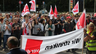 Streik Postbank Offenbach Hessen