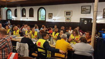 Heute und morgen streiken die Beschäftigten des Filialvertriebs köln.