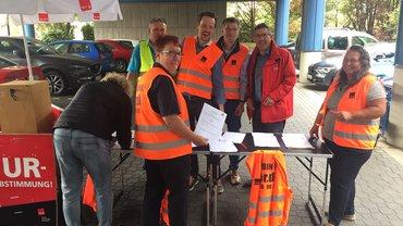 Streik und Urabstimmung in Frankfurt am Main