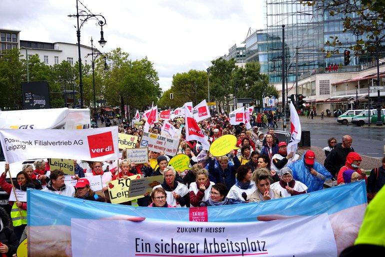 Streikdemo durch Berlin