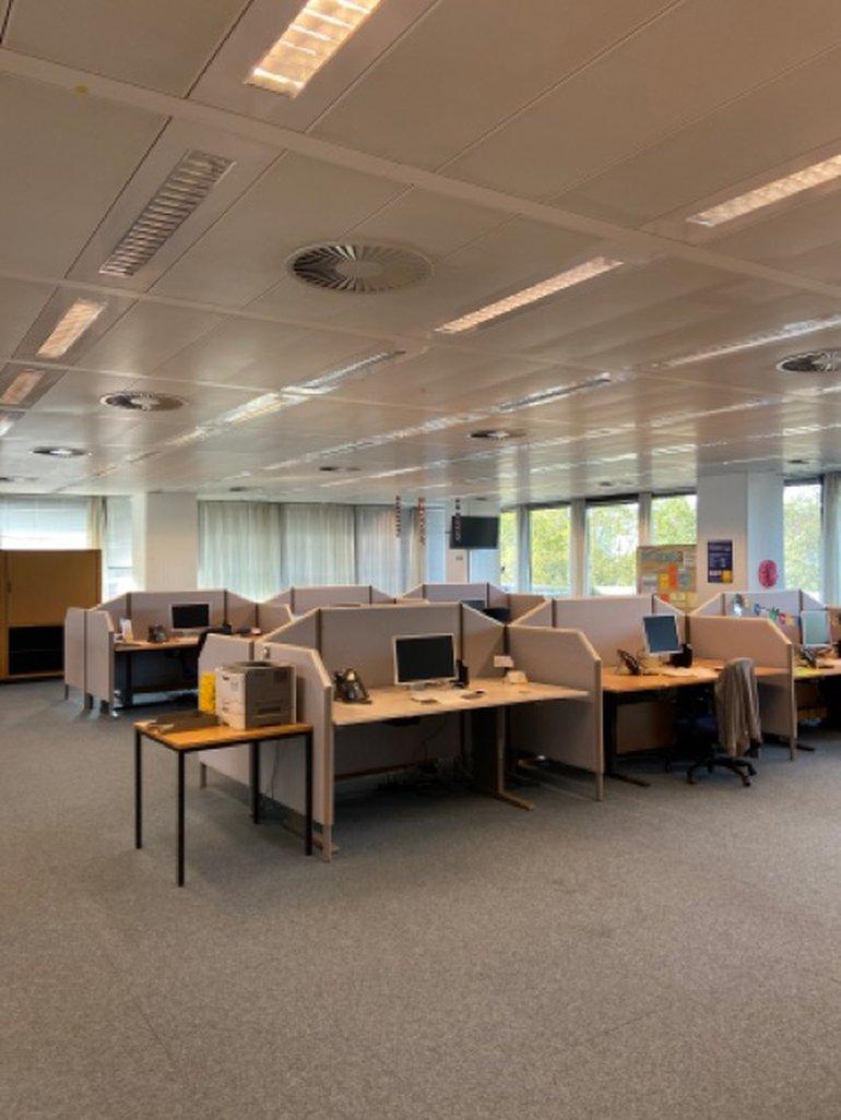 Leere Büros bei der Postbank Hannover