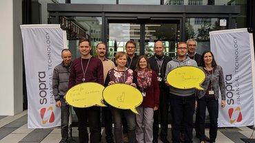 Solidaritätsaktion der Sopra Financial Technology, Nürnberg