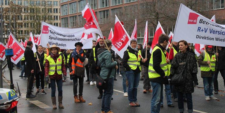Tarifrunde Versicherungen: Streik in Frankfurt am 28.11.2019
