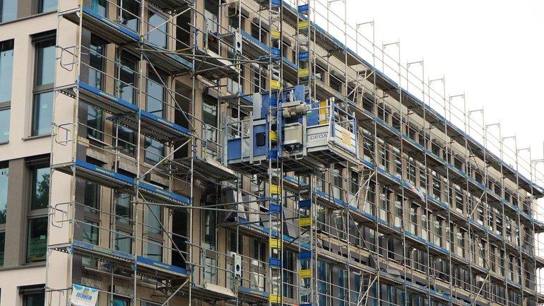 Baumaßnahmen an einem Gebäude