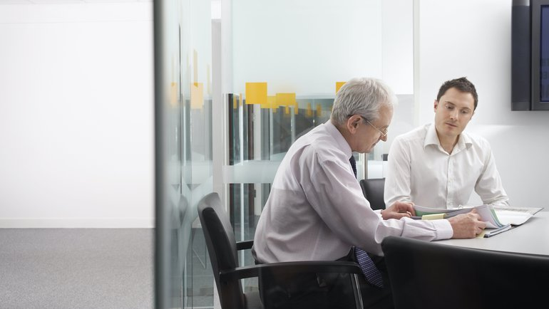 Mitarbeitergespräch in einer Bank
