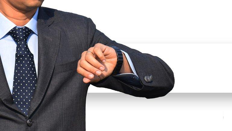 Arbeitszeit Business Geschäftsmann Uhr Uhrzeit