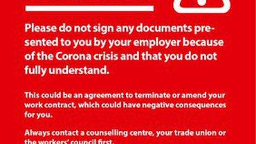 Fremdsprachige Arbeitsrechtsinfos zur Corona-Krise