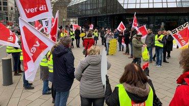 Streik bei der HR Solutions der Deutschen Bank im Februar 2020