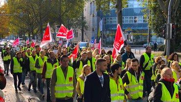 Streikdemo durch Dortmund