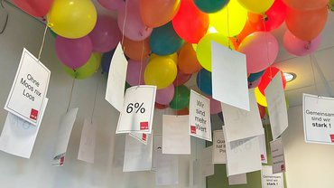 PCC Services Tarifverhandlung Aktion Ballons