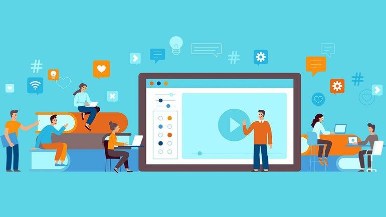 Weiterbildung Lernen Team Illustration
