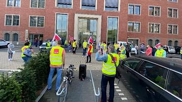 Streik bei der PCC Service GmbH der Deutschen Bank