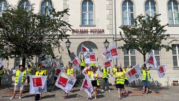 Streik bei der Potsdamer Spielbank