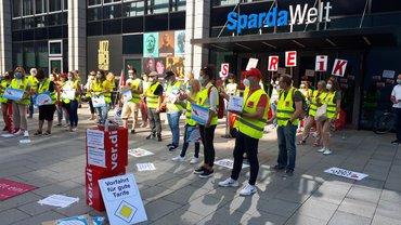 Streik bei der Sparda-Bank Baden-Württemberg
